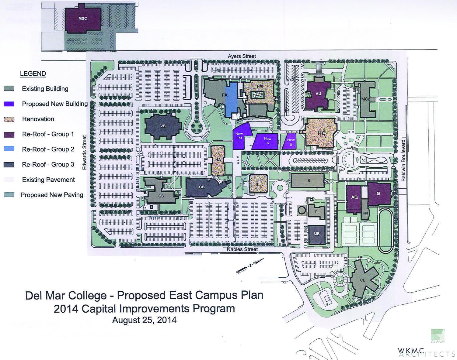 del mar east campus map Bond Approval Brings Change Foghorn News del mar east campus map