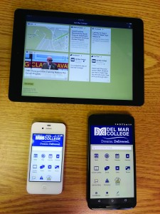 The VikingGo app open on a tablet, iPhone, and Android smartphone.