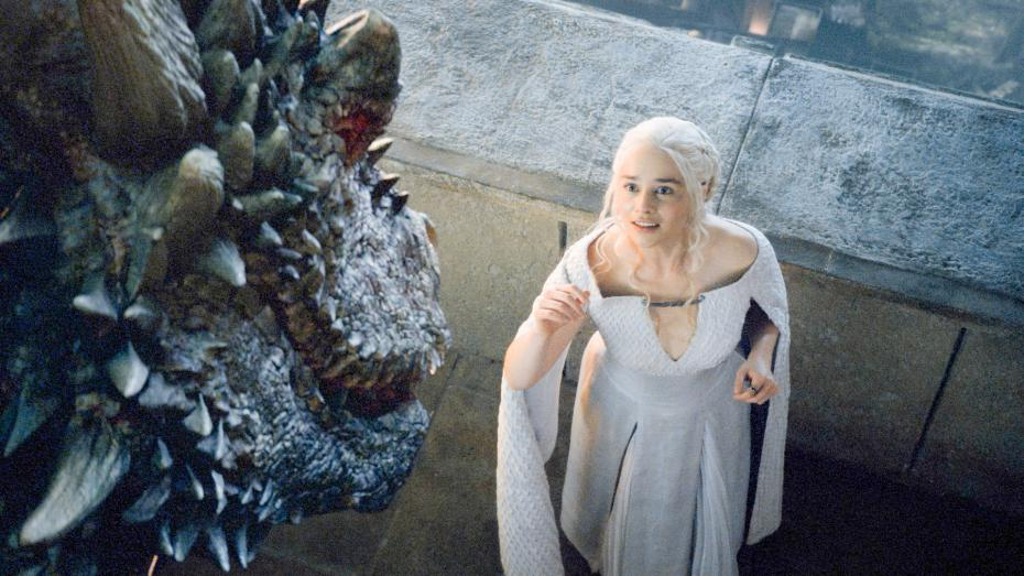 "Drogon reappears this season on ""Game of Thrones"" as things start to get tense between the Houses. His reappearance foreshadows the fate of the Khaleesi's ability to rule Meereen."