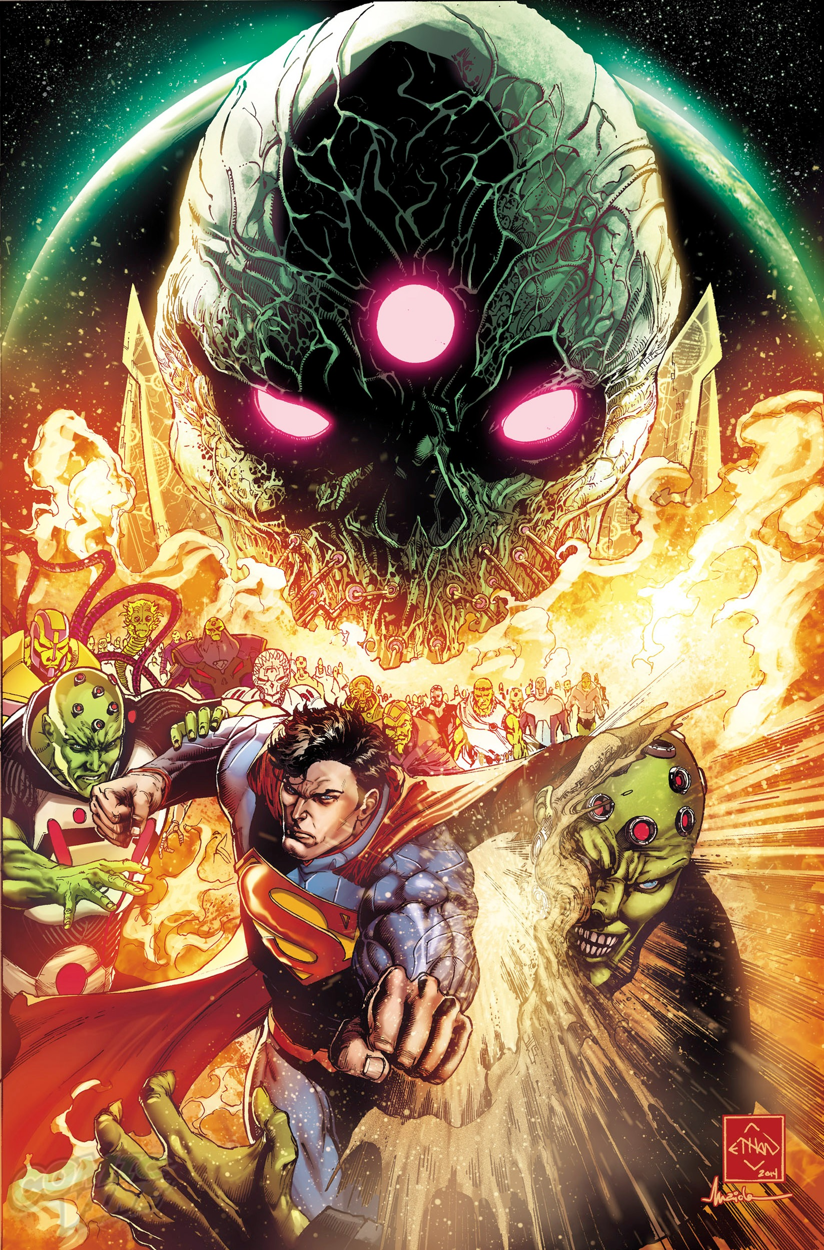 """The new DC Comics' """"Convergence"""" issue No.0 shows an upcoming event for Superman."""