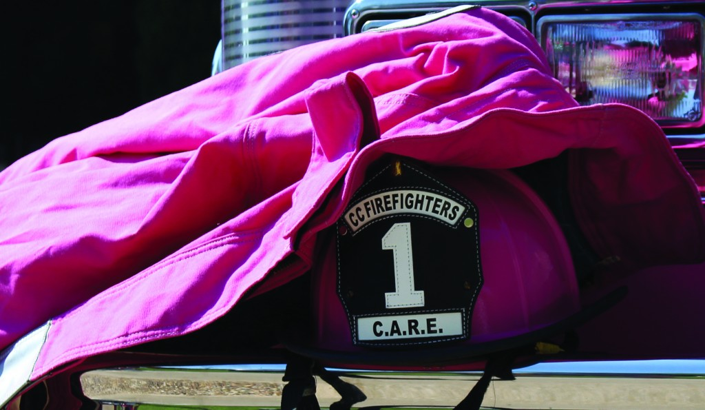 Del Mar College East Campus was a temporary home to CCFD's pink firetruck which supports Breast Cancer Awareness Month.