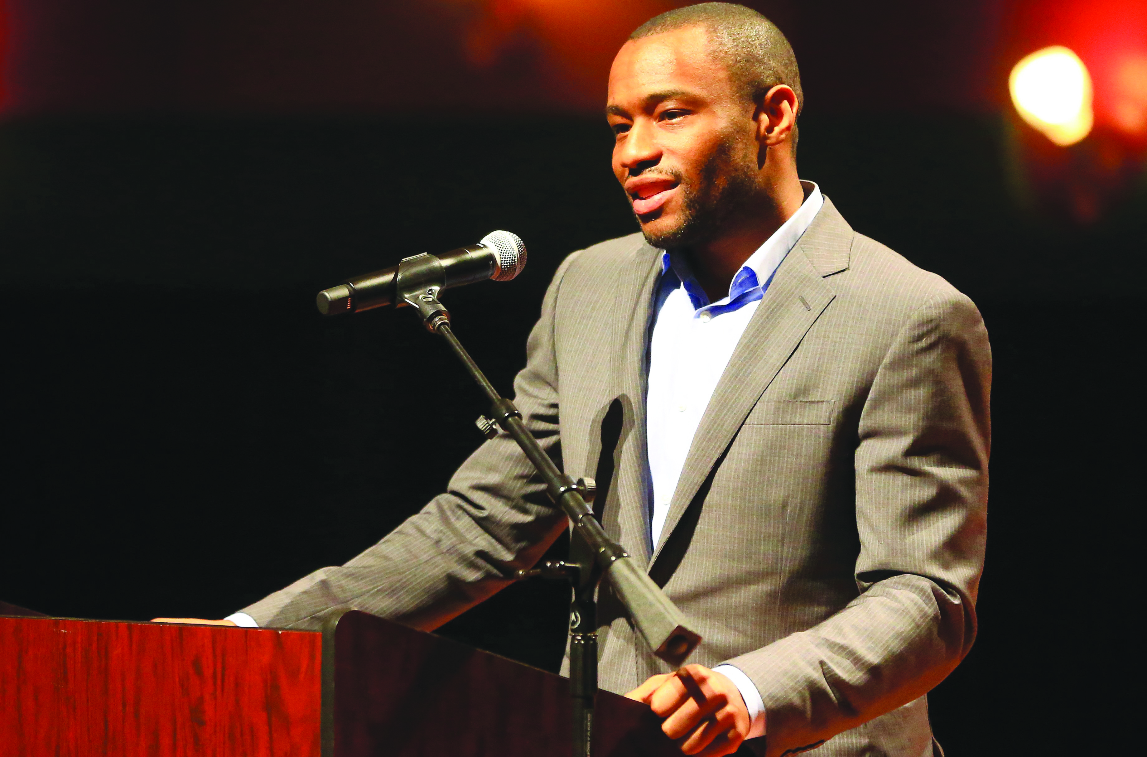 GABE HERNANDEZ/CALLER-TIMES Dr. Marc Lamont Hill speaks during the 4th Annual Dr. Martin Luther King, Jr. Community Celebration Wednesday, Jan. 26, 2016, at Texas A&M University-Corpus Christi in Corpus Christi.