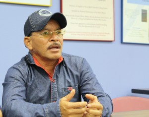 Mario Gonzales is the father of Cesar Manuel González, one of the missing 43 people. (photo by Josselyn Obregon)