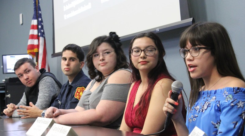 Students from left to right Bryce Shirley Christian Cantu Kaitlyn Kelly Sarah Gonzalez Carolyn Robles