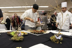 Culinary students prepare to serve guests at the check presentation on Nov. 8 on West Campus.