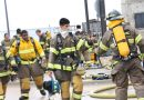 Fire cadets perform burn drill
