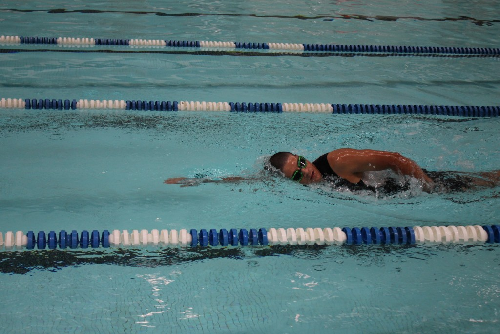 Gutierrez runs on the track at Del Mar College's East Campus to strengthen his endurance for the Sept. 15-19 triathlon.