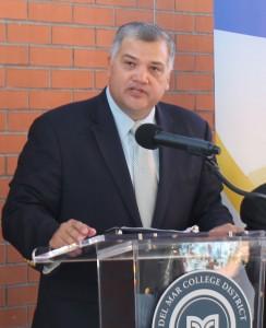 DMC president Mark Escamilla speaks at the event.