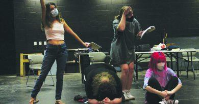 Drama students preparing to perform again